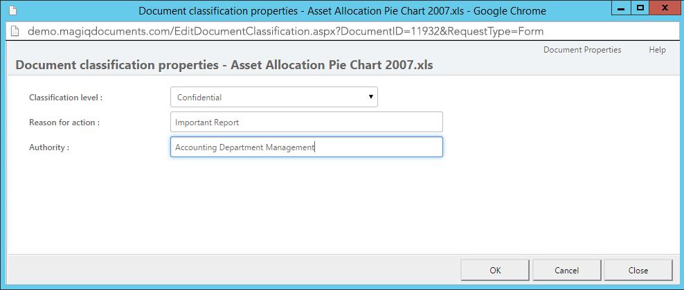 Classifying documents - MAGIQ Documents Help
